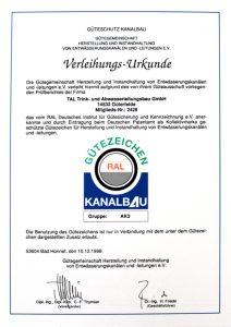 Wer sind wir | TAL Potsdam | Trinkwasser Abwasser Leitungsbau